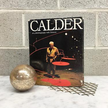 Vintage Calder Book Retro 1960s An Autobiography with Pictures + American Sculptor + Abstract + Modern Art + Artist + First Edition by RetrospectVintage215