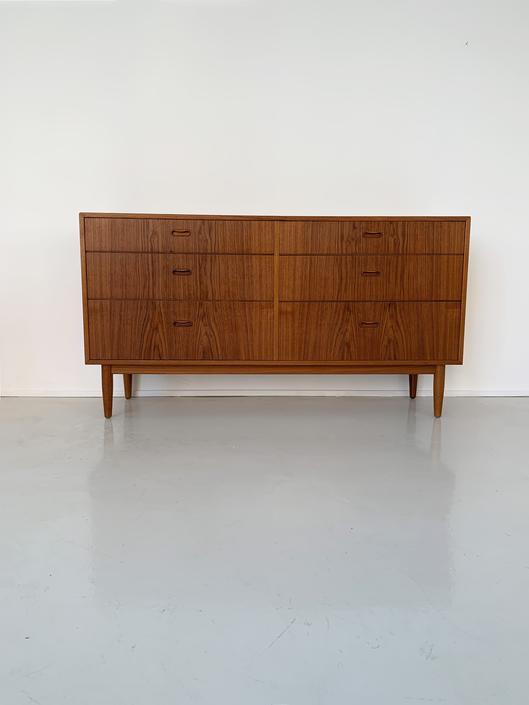 1960s Teak 6-Drawer Credenza by Arne Vodder for Falster, Denmark