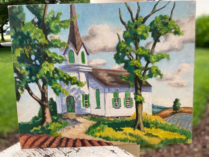 Oil Painting of a Church