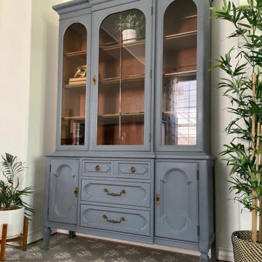 Vintage Italian Provincial China Cabinet Display Cabinet by Thomasville *Local Pick Up Only by BluePoppyFurniture
