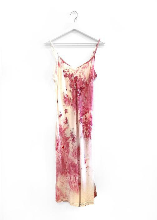 Peri - Midi Slip Dress - Magenta