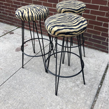 Frederick Weinberg Bar Stools Set of 3 by bcdrygoods