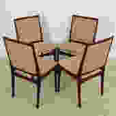 Set of 4 Danish Modern Rosewood Dining Chairs