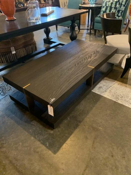 MODERN COFFEE TABLE WITH BRASS DETAIL FROM ADAC