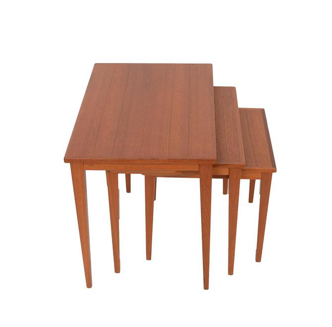 Teak Nesting Tables Danish Modern Mid Century Modern by HearthsideHome
