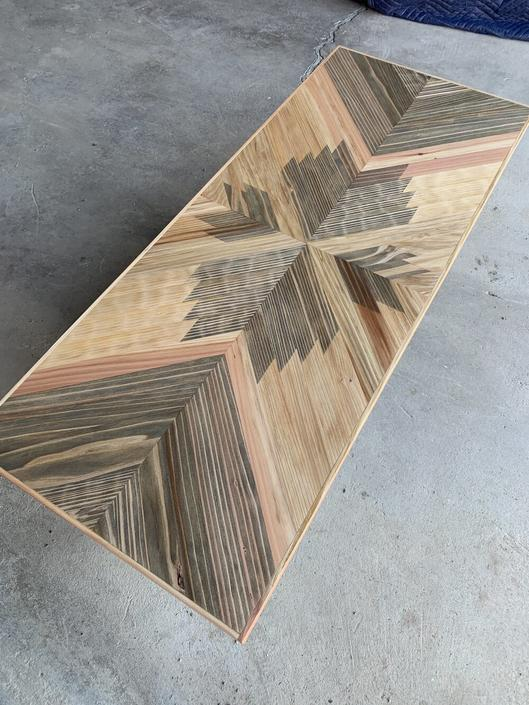 The Tempest - Redwood Coffee Table