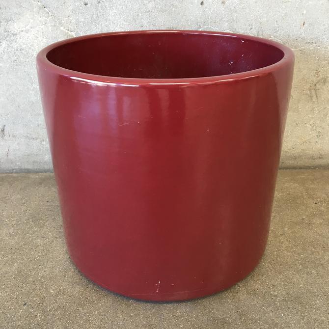 Burgundy Mid Century Gainey Flower Pot