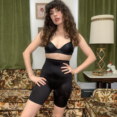 VTG FLORAL SPANX - black - small/x-small by GlamItToHell