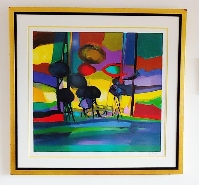 Framed Abstract Giclee Signed and Numbered by ModandOzzie
