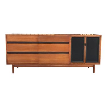 Mid Century Lowboy Dresser With Hidden Vanity by H.Paul Browning for Stanley Furniture Co. by VintageOnPoint