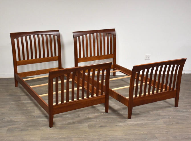 Ethan Allen American Impressions Cherry Twin Beds- a Pair by mixedmodern1