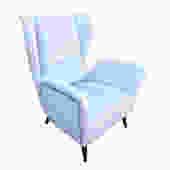 Italian Mid-Century Wing Chair