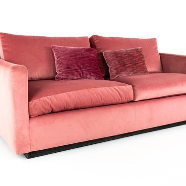 Mid Century Pink Velvet Loveseat - mcm by ModernHill