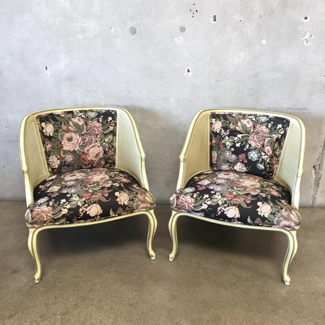 Pair of Vintage Cane Sided Chairs