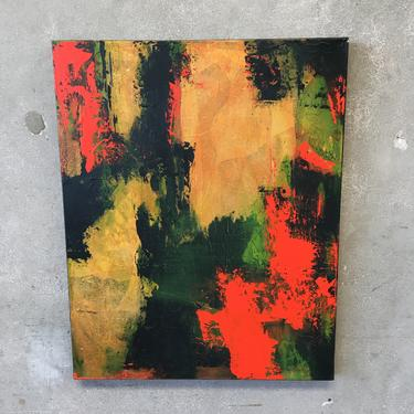 Oil On Canvas Abstract Unsigned
