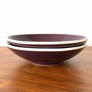 Pair of Sasaki Colorstone Soup Bowls in Plum (Purple) by Vignelli Designs by TheThriftyScout