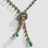 Aqua and Clear Rhinestone Necklace by LegendaryBeast