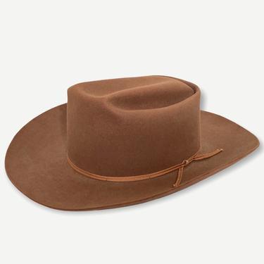 Vintage 1950s MILLER Cowboy Hat ~ size 7 1/8 to 7 1/4  ~ Western Fedora ~ Wide Brim ~ 4X Beaver Fur Felt by SparrowsAndWolves