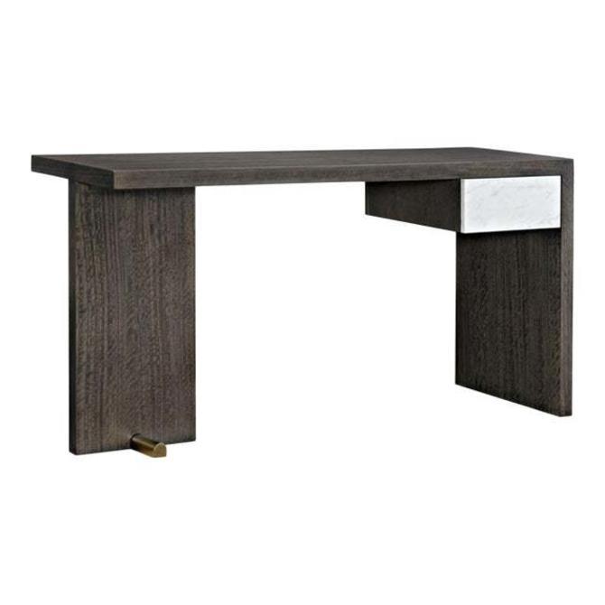 Caracole Modern Dark Walnut Finished Wood Writing Desk