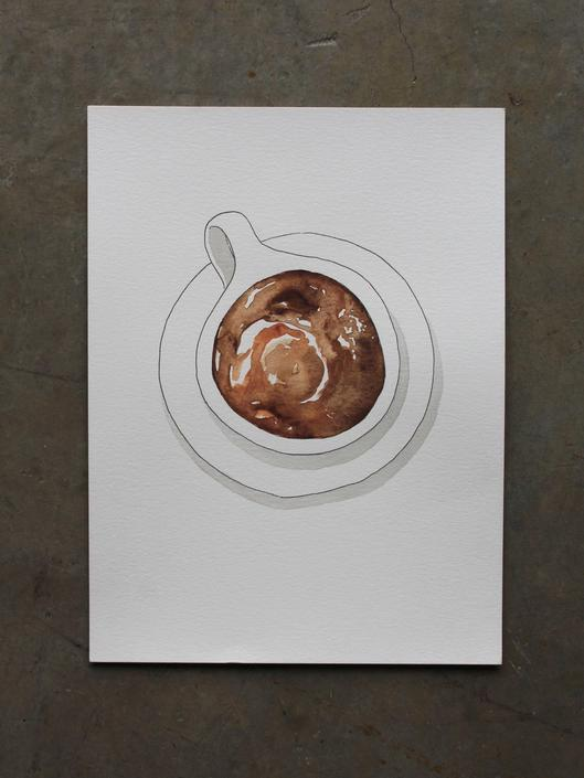 Coffee Cup Original Watercolor Painting