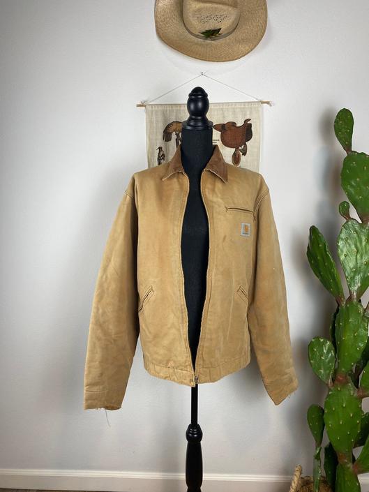 Vintage Carhartt Work Coat Serape Lined by DesertCactusVintage