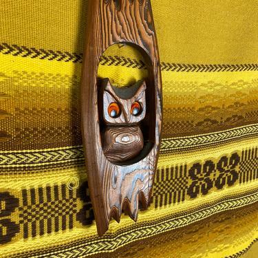 Vintage 70s Owl in Tree Wood Plaque by DesertCactusVintage