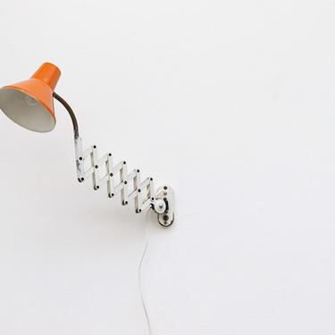 Hala Zeist Scissor Wall Lamp with Orange Shade