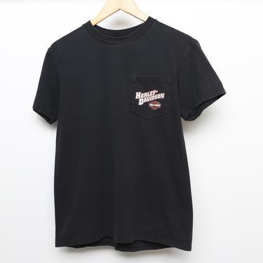 vintage HARLEY DAVIDSON San Antonio TEXAS Wild & Free biker 90s cotton t-shirt -- Size Medium by CairoVintage