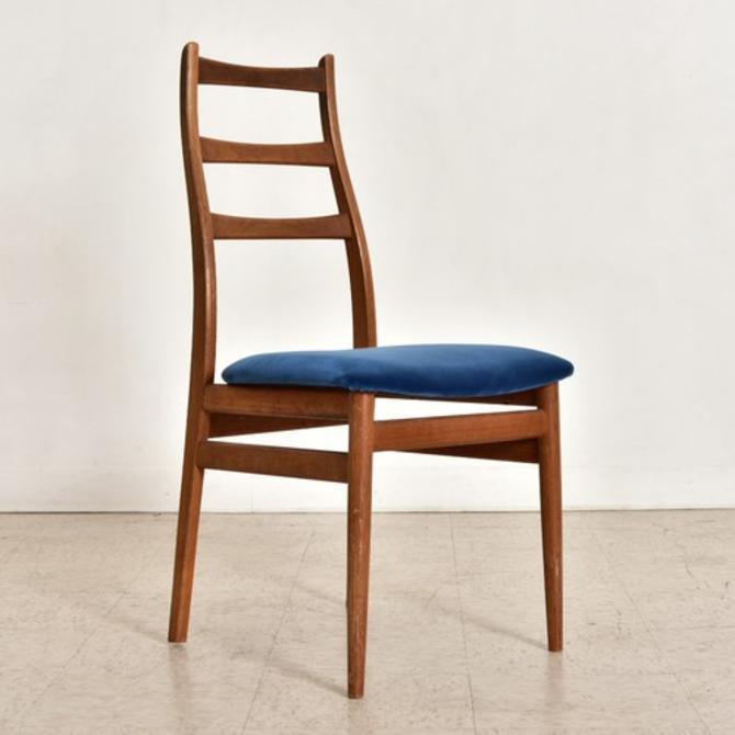 Single Vintage Danish Royal Blue Desk Chair