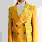 CH Carolina Herrera Casual Wool-Blend Jacket, Size M