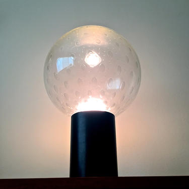 Rare RAAK Large Bubble Glass Globe Table Lamp Mid Century Modern Space Age by 20cModern