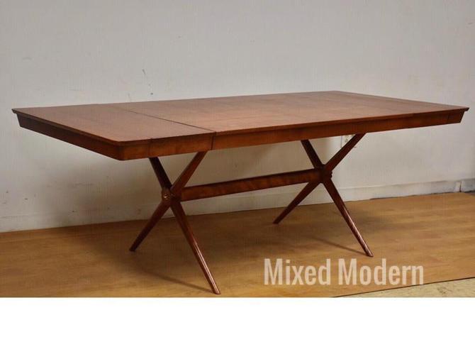 Robsjohn Gibbings Style Birch X Dining Table by mixedmodern1