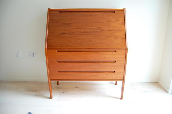 Danish Modern Kai Kristiansen Teak Secretary Desk/Vanity by Torring Mobelfabrik in Denmark by MidCentury55