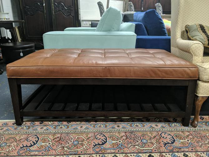 Brown Cushioned Bench