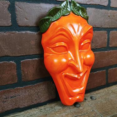 Jamar Mallory Comedy Mask Wall Pocket by RedsRustyRelics