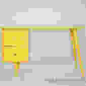 Paul Mccobb Planner group desk painted yellow