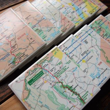 Appalachian Trail Map Coasters - Set of 11 - Ceramic Tile - Repurposed Appalachain Trail Conservancy Map - Full Length of Trail by allmappedout