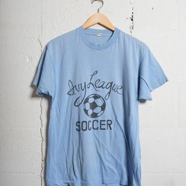 Vintage 80's Ivy League Soccer T Shirt Thrashed! Beat! Soft! Xl 1245 by TCWOnline