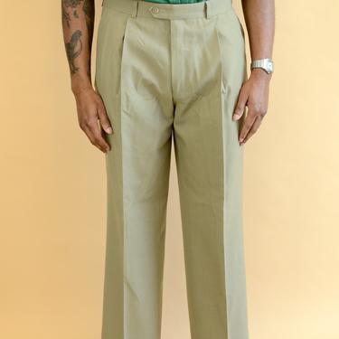 Vintage Ralph Lauren Polo Club University Cream Khaki Pleated Pants Trousers 33x27 32x27 34x27 Medium by MAWSUPPLY