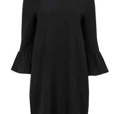 Ganni - Black Shift Dress w/ Bell Sleeves Sz 6
