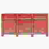 Distressed Rustic Orange Red Sideboard Console Table Cabinet cs5143S