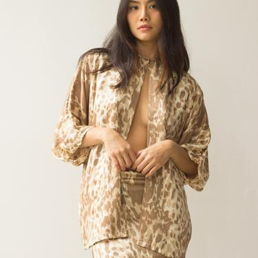 1970s Leopard Set Mini Skirt and Jacket Set by waywardcollection