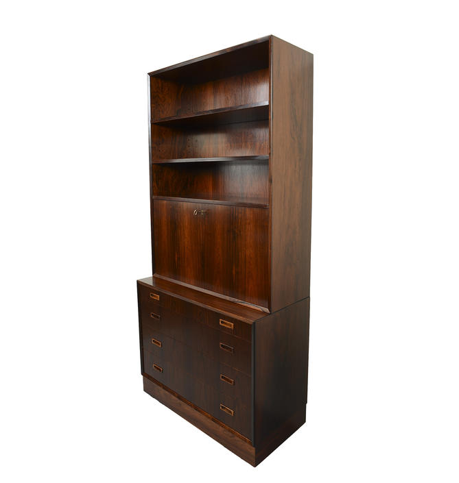 Rosewood Wall Unit Desk Bar Bookcase Drawers Lyby Mobler Danish Modern by HearthsideHome