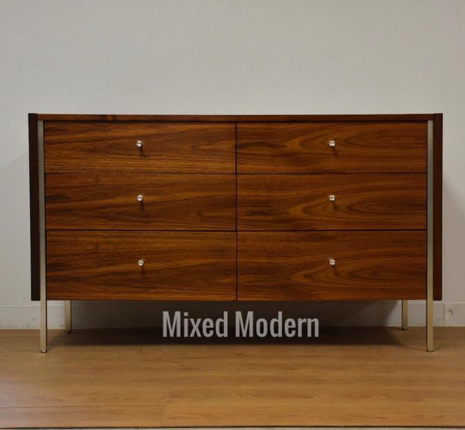 Walnut & Aluminum Mid Century Mengel Dresser by mixedmodern1