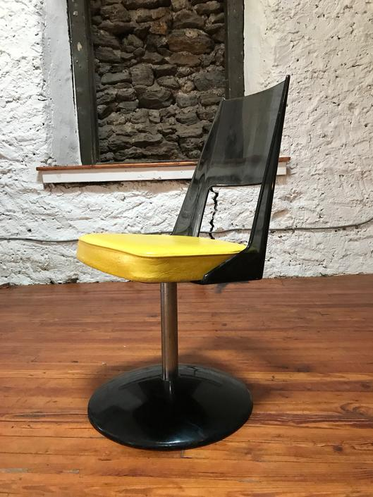 mid century side chair atomic kitchen chair mid century accent chair by VintaDelphia