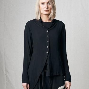 Asymmetric Semi Sheer Tip Shirt