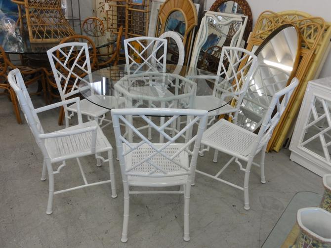 Powdercoated Faux Bamboo Chippendale Set
