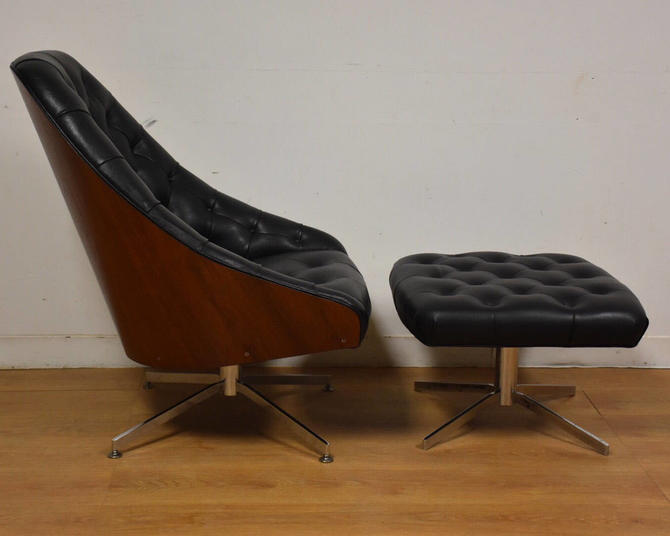 Milo Baughman for Thayer Coggin Lounge Chair and Ottoman by mixedmodern1
