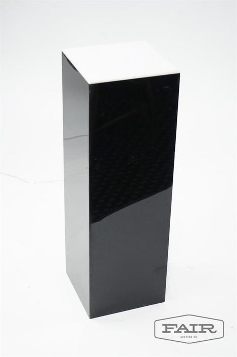 Black and White Lucite Pedestal
