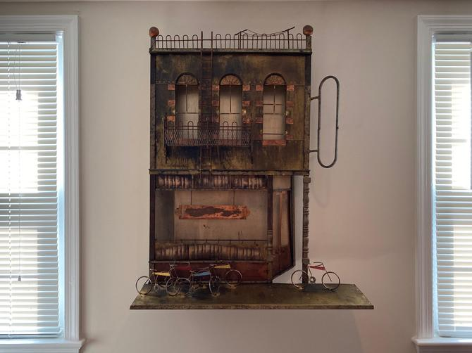 C. Jere Metal Wall Art of Ice Cream Parlour, signed by MSGEngineering